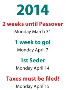 2 weeks til Passover Countdown