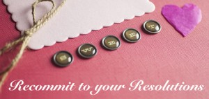 A valentine's package wrapped with overlay type: Recommit to your Resolutions