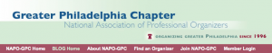 Masthead from NAPO Greater Philadelphia Chapter's blogsite