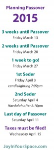 3 week countdown 2015 Passover