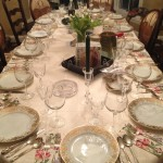 Joy's seder table set the night before