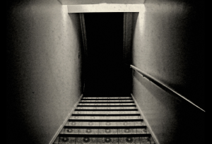 Ominous staircase down to the basement
