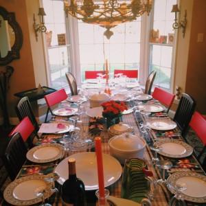 Joy's beautifully set table, ready for Thanksgiving.