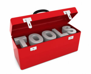 "red toolkit is open showing ""tools"""