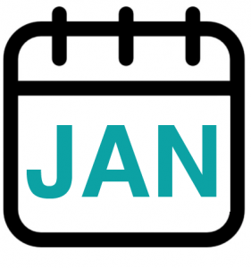 calendar graphic showing JAN